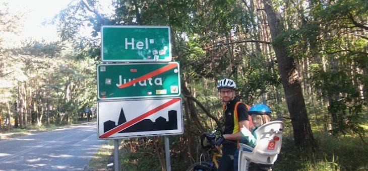Polskie wybrzeże na rowerach z małym dzieckiem – szlak R10 – część 2