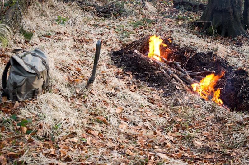 Łoże ogniowe i schronienie awaryjne – test.